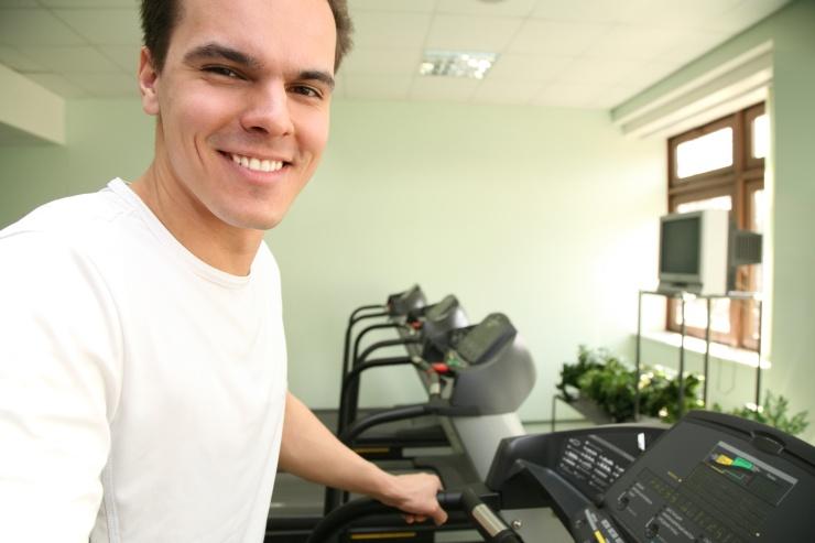 man in health club